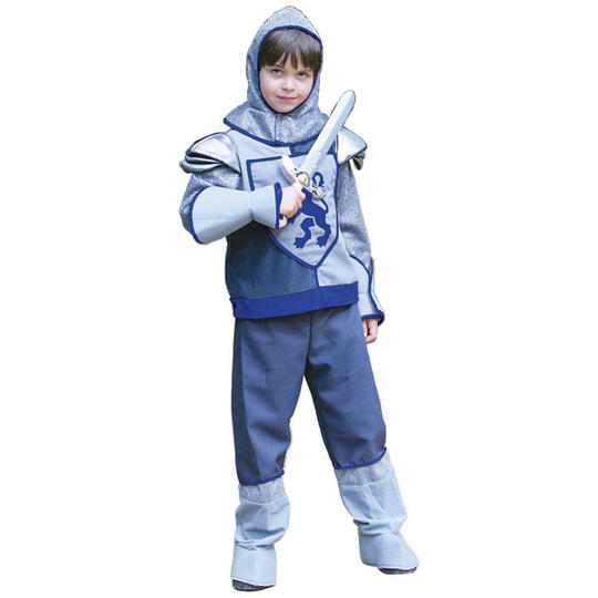 Boys Crusader Knight Costume Kids School Book Week Medieval Fancy Dress Outfit Thumbnail 1