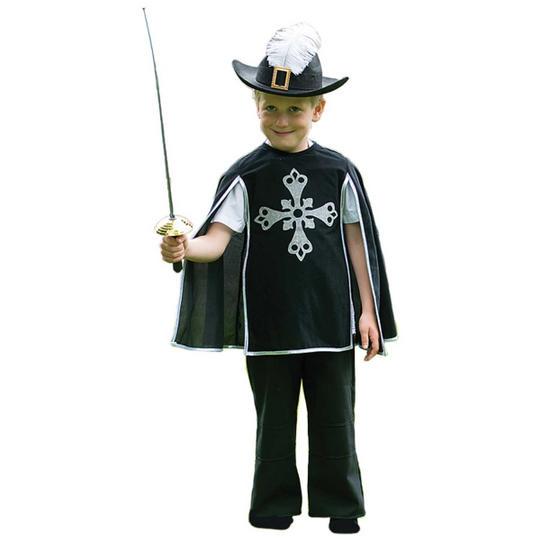 Boys Musketeer Fancy Dress Costume  Thumbnail 1