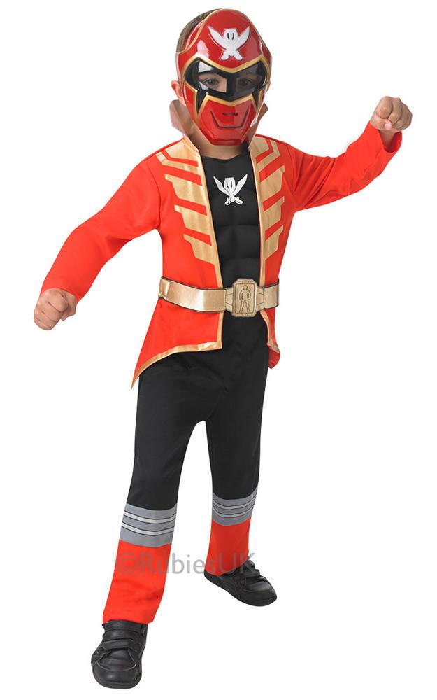 Boys Deluxe Red Super Mega Force Power Ranger Costume