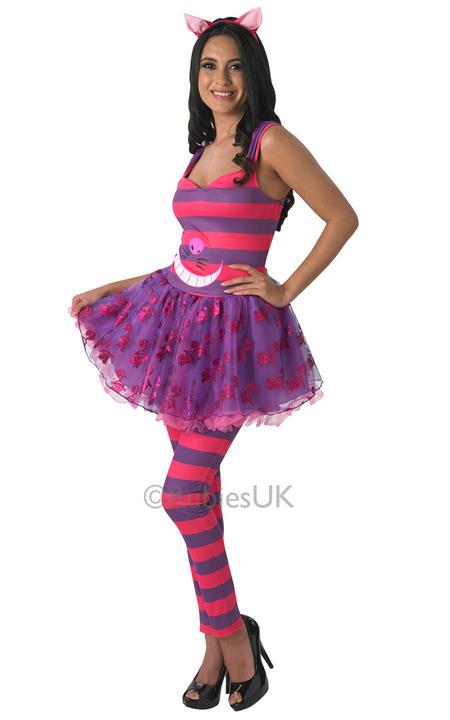 Womens Disney Alice in wonderlands Cheshire Cat Costume  Thumbnail 1