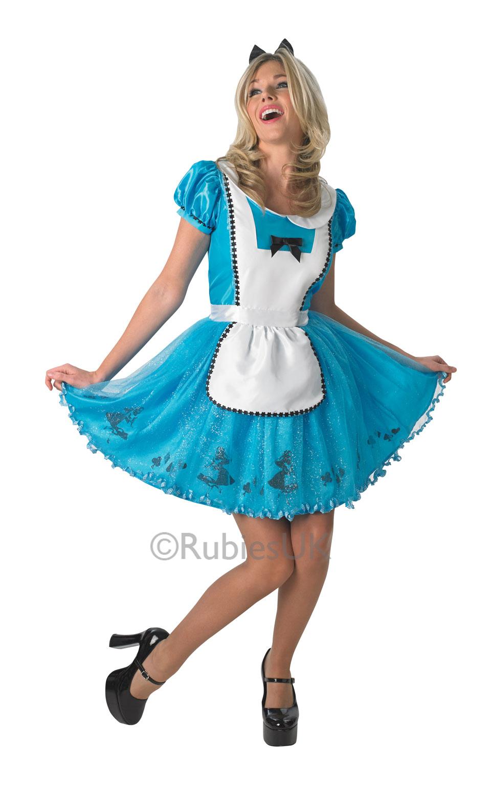 Beautiful Disney Alice In Wonderland Ladies Fancy Dress Costume Hen ...