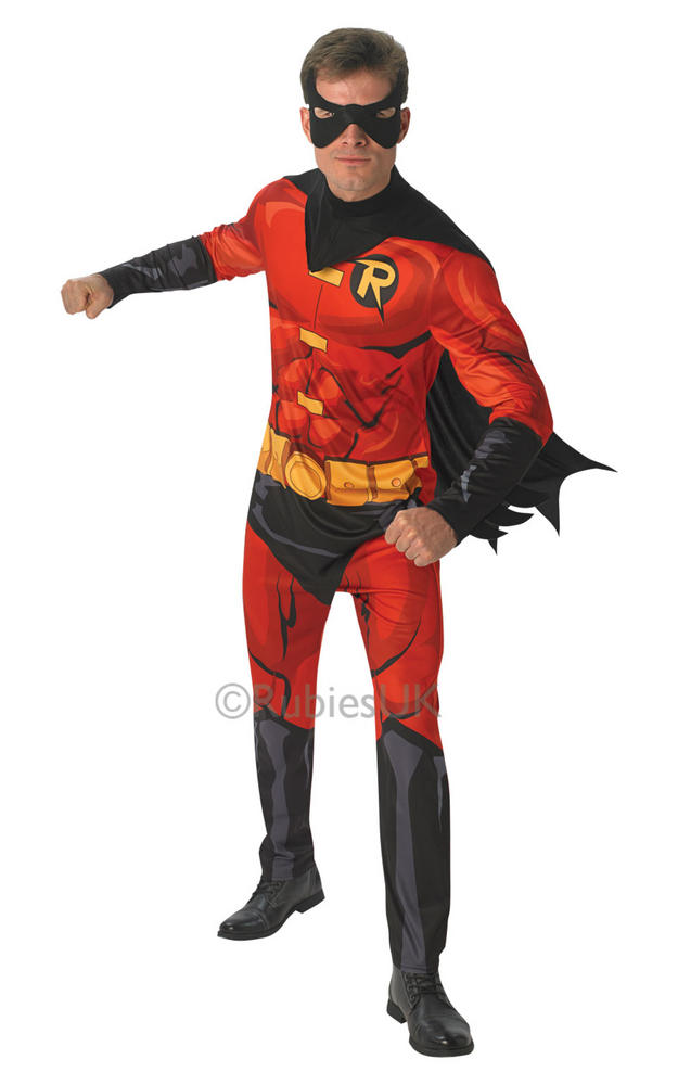 Mens Marvel Comic Book Robin Costume