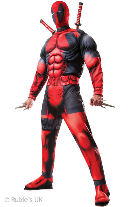 Mens Deadpool Deluxe costume  Thumbnail 1
