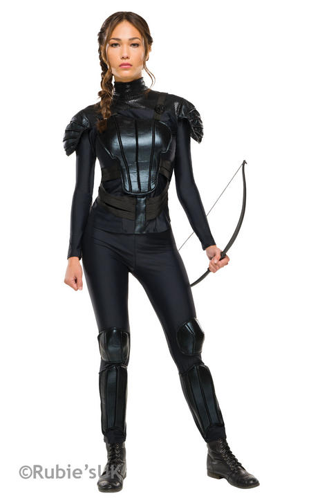 Womens The Hunger Games  Katniss Rebel Fancy Dress Costume  Thumbnail 1