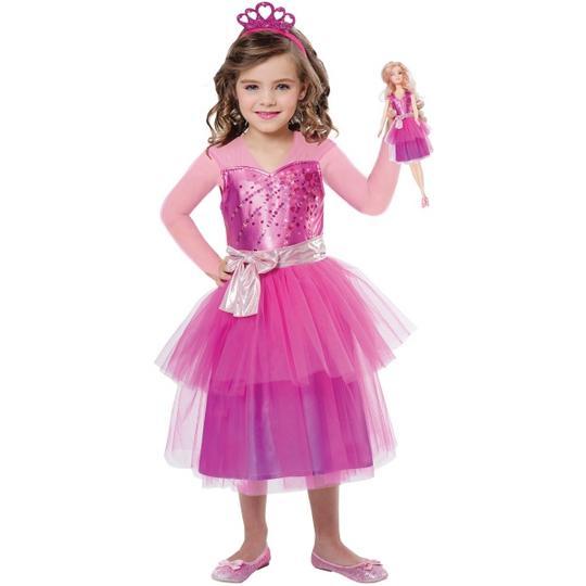 Girls Barbie Princess Girls Fancy Dress Costume Thumbnail 1