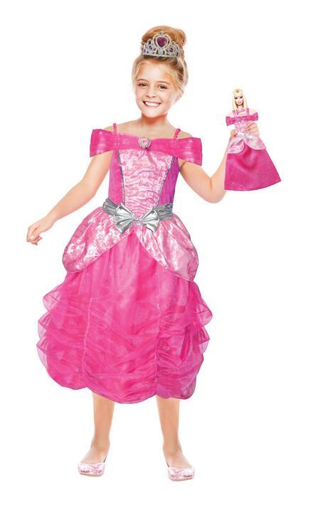 Girls Barbie Heart Princess Girls ancy Dress Costume Thumbnail 1
