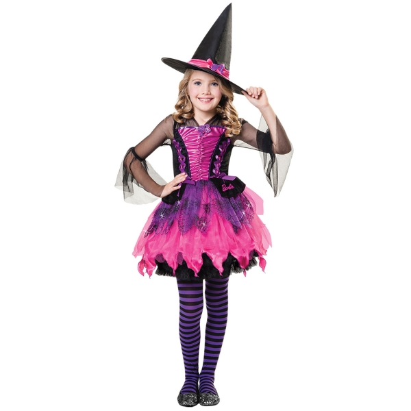 Girls Barbie Witch Fancy Dress Costume