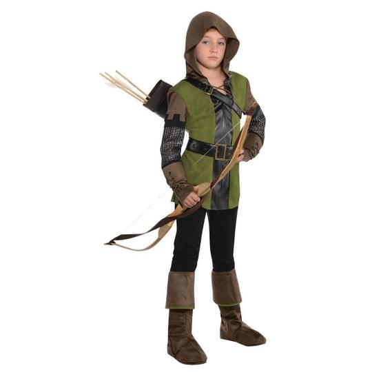 Boys Prince of Thieves Costume Kids Robin Hood School Book week Fancy Dress  Thumbnail 1