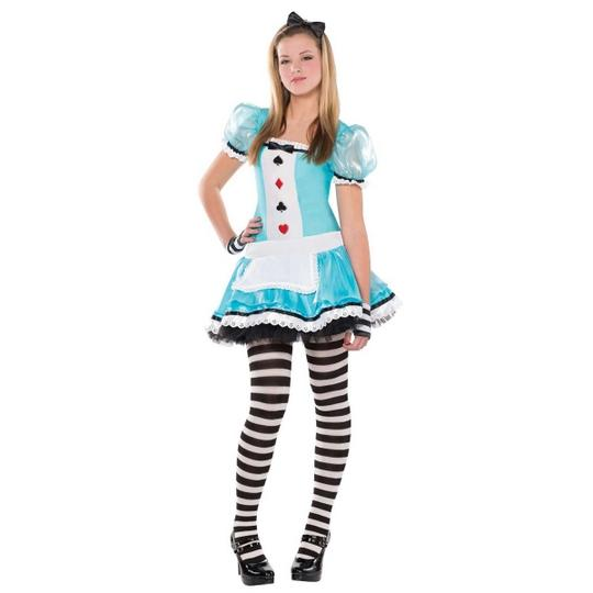 Girls Teen Book Week Clever Alice Costume Kids Fancy Dress Outfit Thumbnail 1