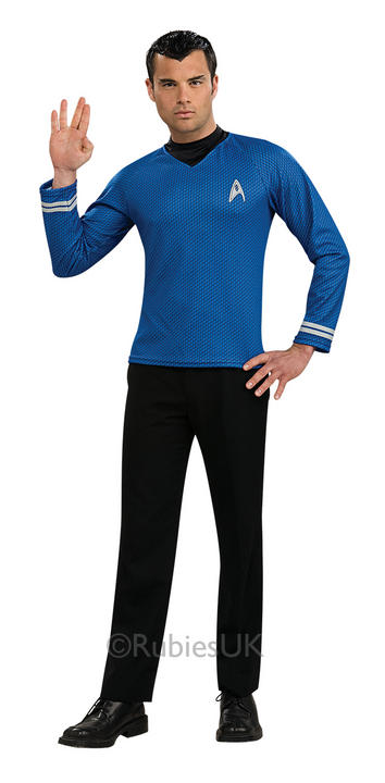Adult Spock Star Trek Blue Shirt Thumbnail 1