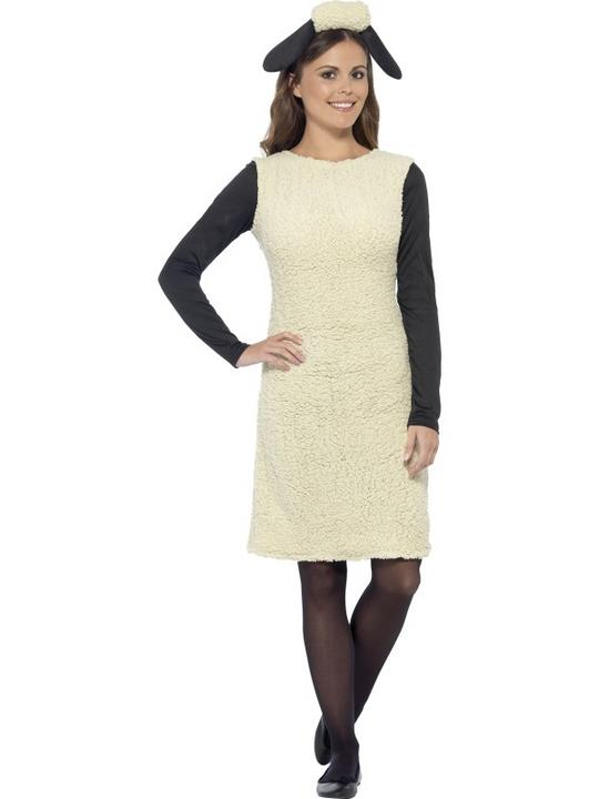 Shaun The Sheep Womens Costume Ladies Fancy Dress Outfit Animal Farm TV Adult Thumbnail 1