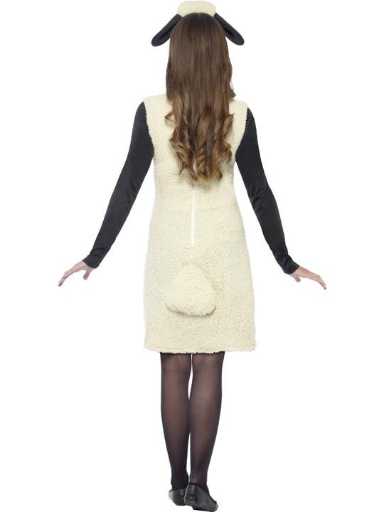 Shaun The Sheep Womens Costume Ladies Fancy Dress Outfit Animal Farm TV Adult Thumbnail 2