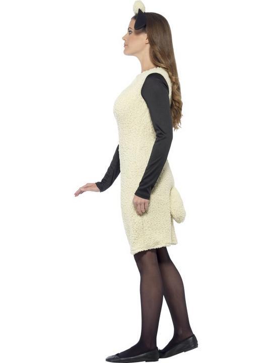 Shaun The Sheep Womens Costume Ladies Fancy Dress Outfit Animal Farm TV Adult Thumbnail 3