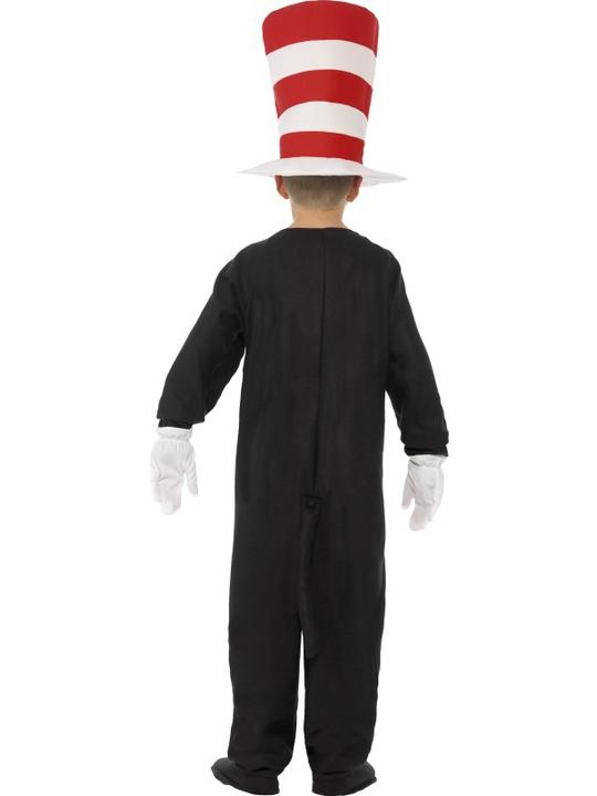 Kids DR SEUSS Cat In The Hat Boys Book Week Fancy Dress Costume Party Outfit Thumbnail 3