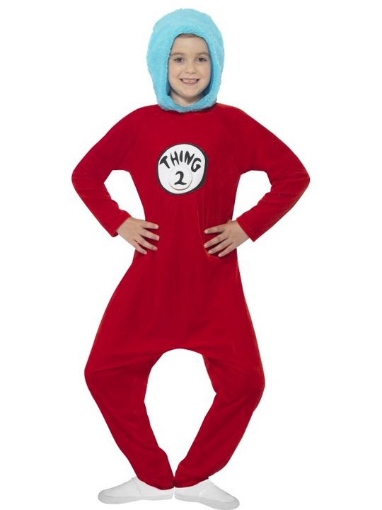 Kids Book Week Thing 1 or Thing 2 Costume Fancy Dress Outfit Thumbnail 2
