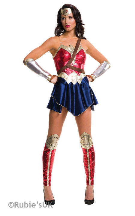 Wonder Woman Costume Ladies Batman V Superman Justice Fancy Dress Party Outfit Thumbnail 1