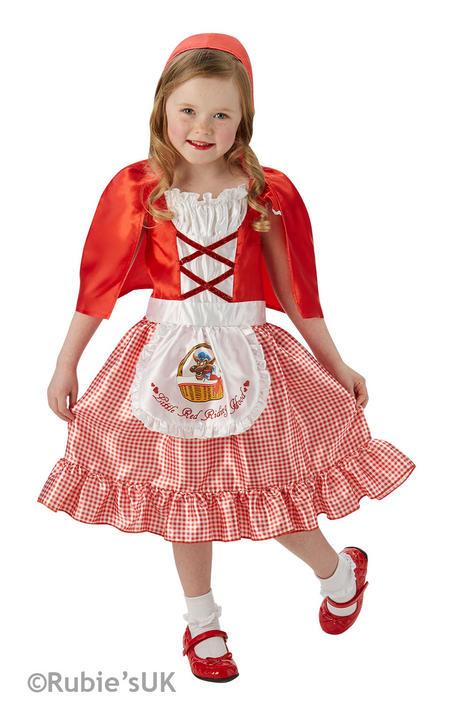 Girls Book Week Little Red Riding Hood Costume Kids Fancy Dress Outfit Thumbnail 1