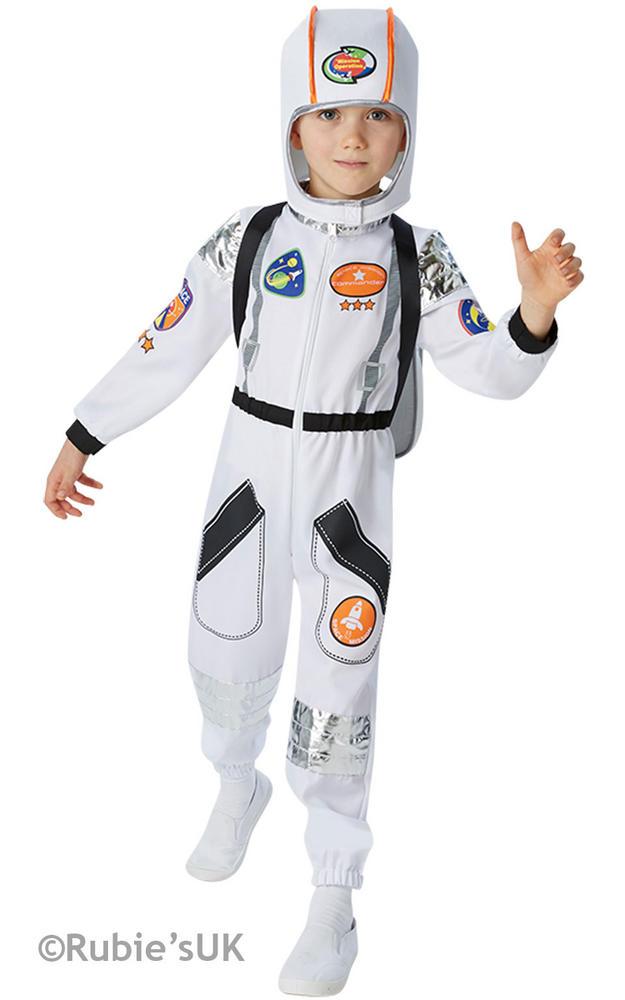 Boys Book Week Astronaut Costume Kids Fancy Dress Outfit