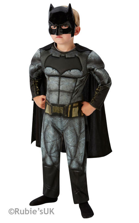 Boys Deluxe Dawn of Justice Batman Costume Kids Fancy Dress Outfit Thumbnail 2