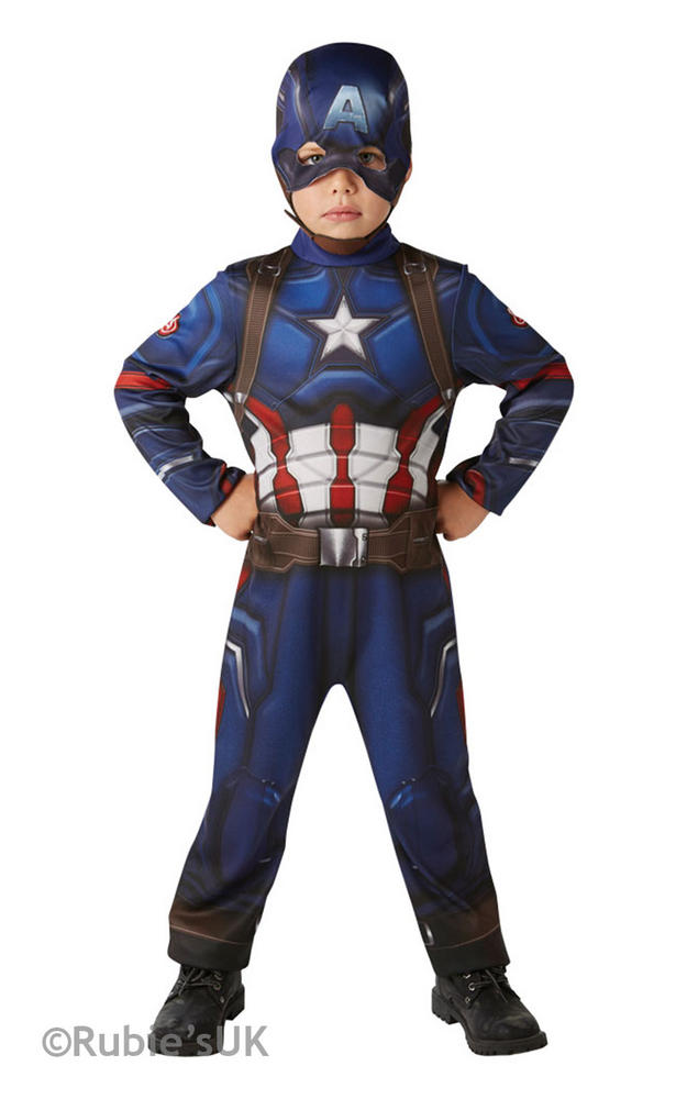 Boy's Classic Captain America Civil War Fancy Dress Costume