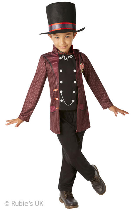 Boys Book Week Roald Dahl Day Willy Wonka Costume Kids Fancy Dress Outfit Thumbnail 1