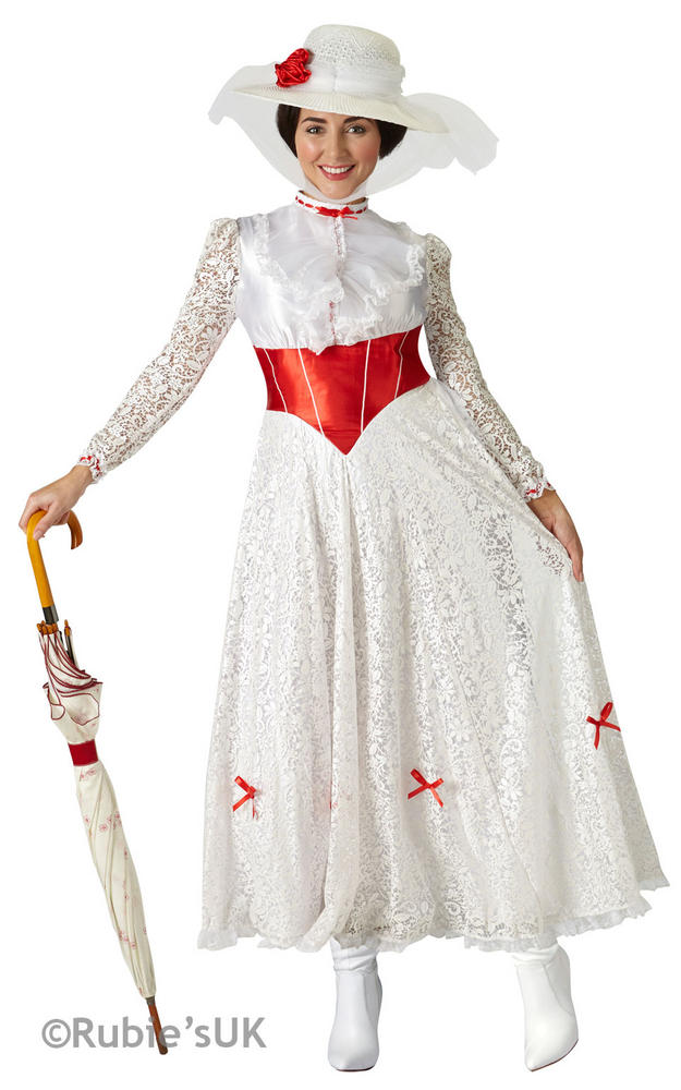 "Women's Mary Poppins ""Jolly Holiday"" Fancy Dress Costume"