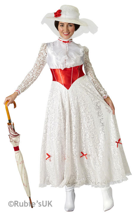 "Women's Mary Poppins ""Jolly Holiday"" Fancy Dress Costume Thumbnail 1"