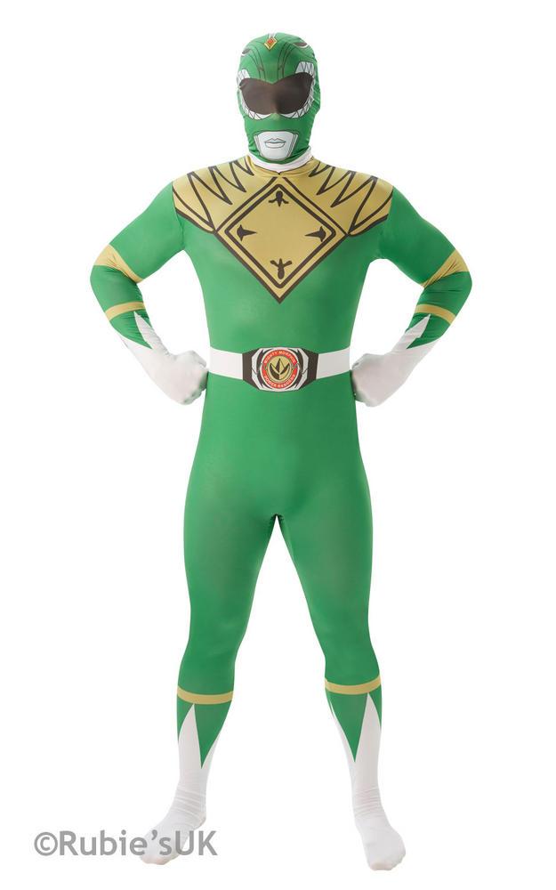 Men's Green Ranger 2nd Skin Fancy Dress Costume