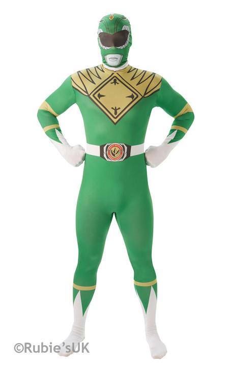 Men's Green Ranger 2nd Skin Fancy Dress Costume Thumbnail 1