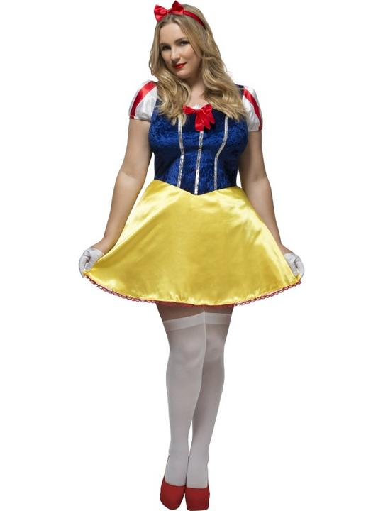 Women's Fever Curves Fairytale Fancy Dress Costume Thumbnail 1