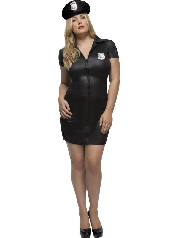 Women's Fever Curves Cop Fancy Dress Costume