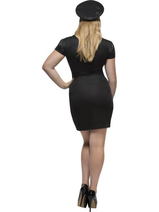 Women's Fever Curves Cop Fancy Dress Costume Thumbnail 2