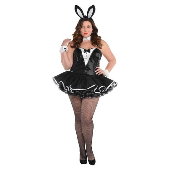 Deluxe Sexy Miss Bunny Girl Ladies Plus Size Fancy Dress Costume Party Outfit Thumbnail 1