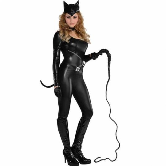 Deluxe Sexy Miss Kitty Cat Ladies Plus Size Fancy Dress Costume Party Outfit Thumbnail 1