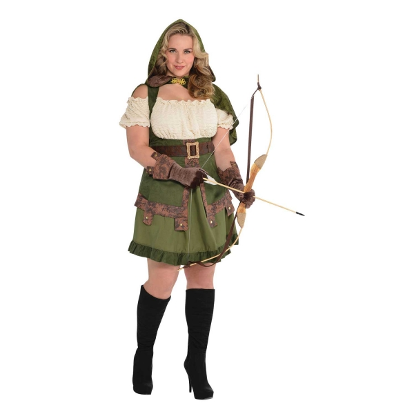 Deluxe Sexy Miss Robin Hood Ladies Plus Size Fancy Dress Costume Party Outfit