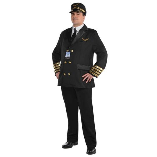 Captain Wingman Fancy Dress Costume Plus Sizes Thumbnail 1
