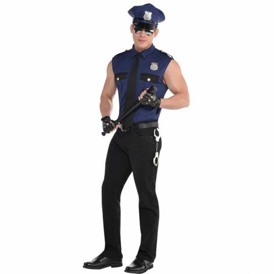 Men's Under Arrest Plus Size Fancy Dress Costume Thumbnail 1