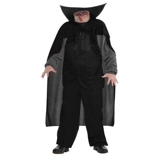 Boys Halloween Headless Horseman Costume Kids Horror Fancy Dress Outfit Thumbnail 1