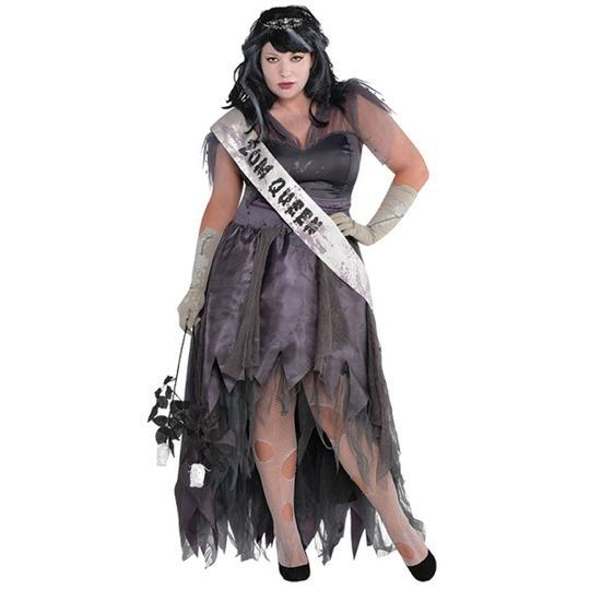 Womens Plus Size Homecoming Corpse Dress Ladies Fancy Dress Costume Thumbnail 1