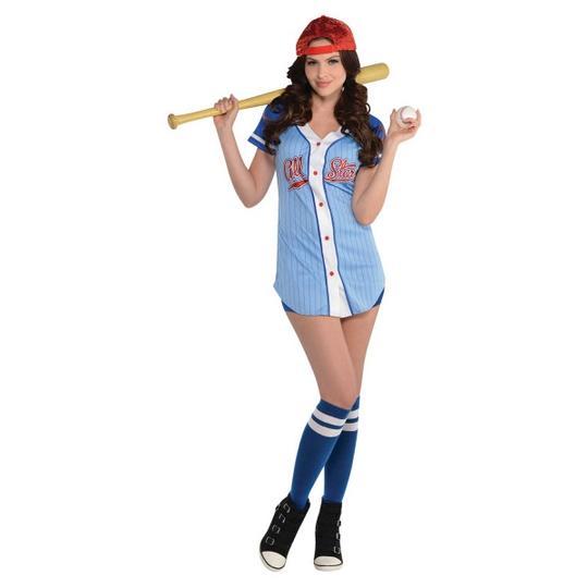 Women's Baseball Babe Fancy Dress Costume Thumbnail 1