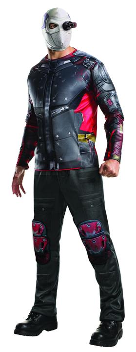 Men's Deadshot Suicide Squad Fancy Dress Costume Thumbnail 1