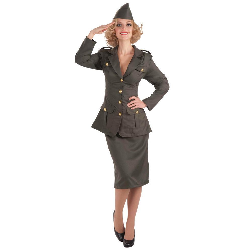 Women's WW11 Army Gal Fancy Dress Costume