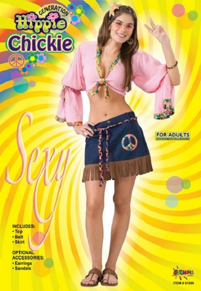 Sexy Hippy Chick Costume Thumbnail 1