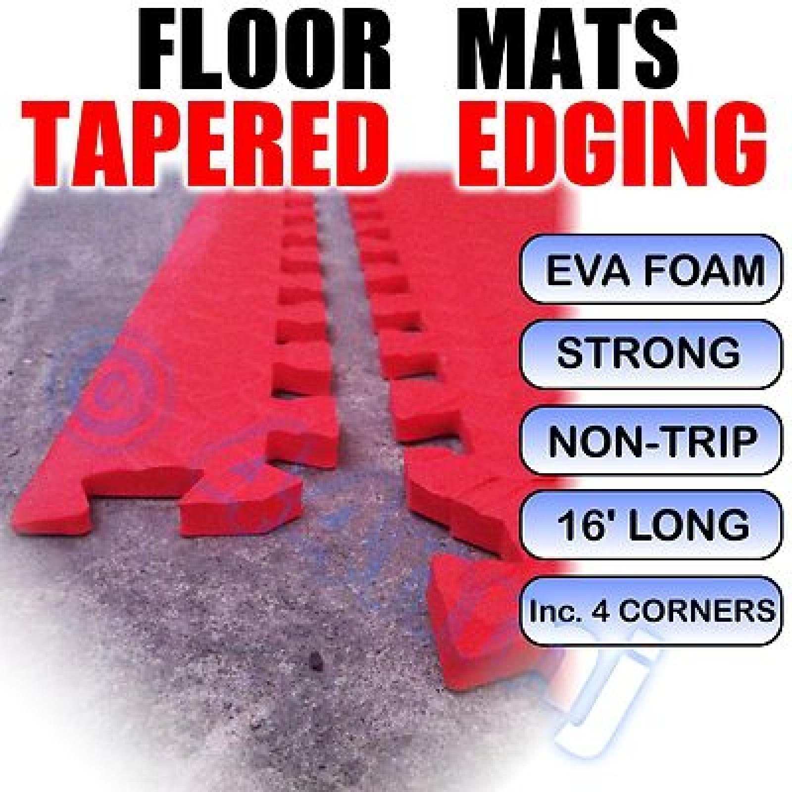 16ft 4.87m LT GREY TAPERED EDGING /& CORNERS Non Trip for 12mm EVA Flooring Tiles