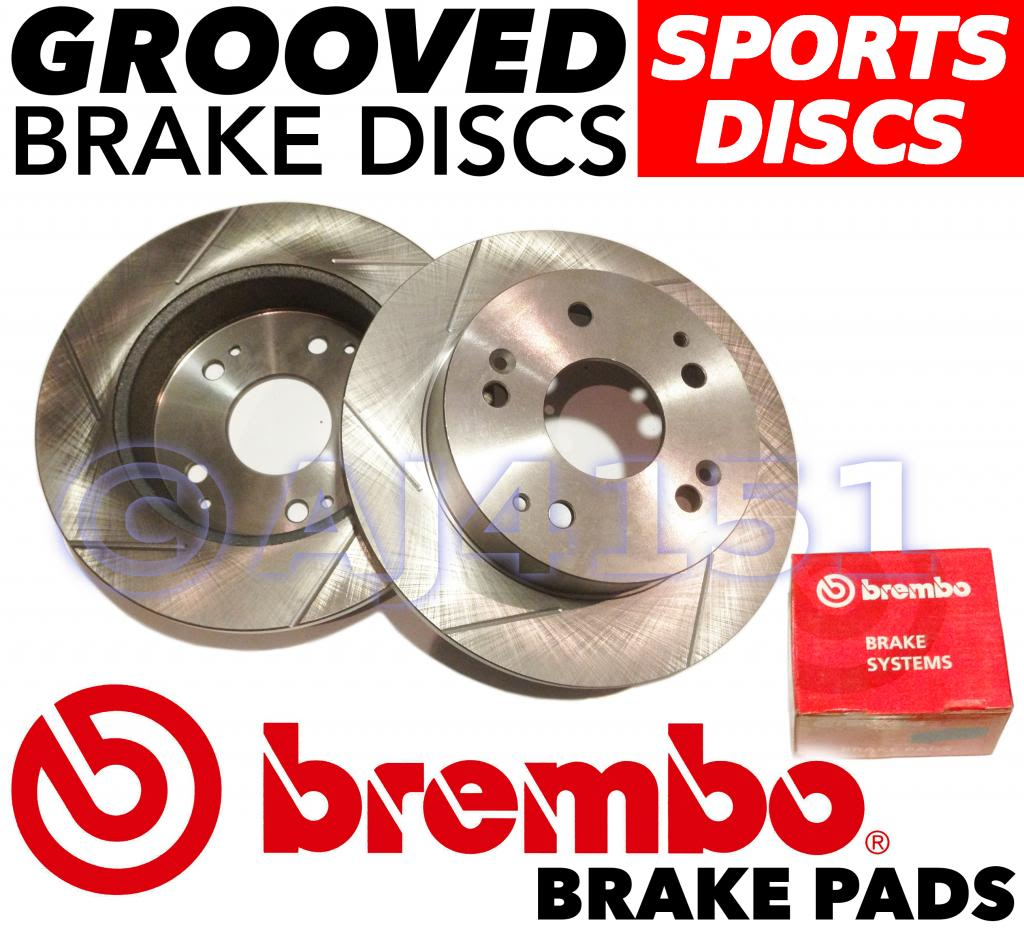 HONDA CIVIC TYPE R EP3  BRAKE DISC BREMBO PERFORMANCE GROOVED BRAKE DISCS /& PADS