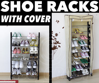 Shoe Rack Tower Storage With Cover Shoes Boots