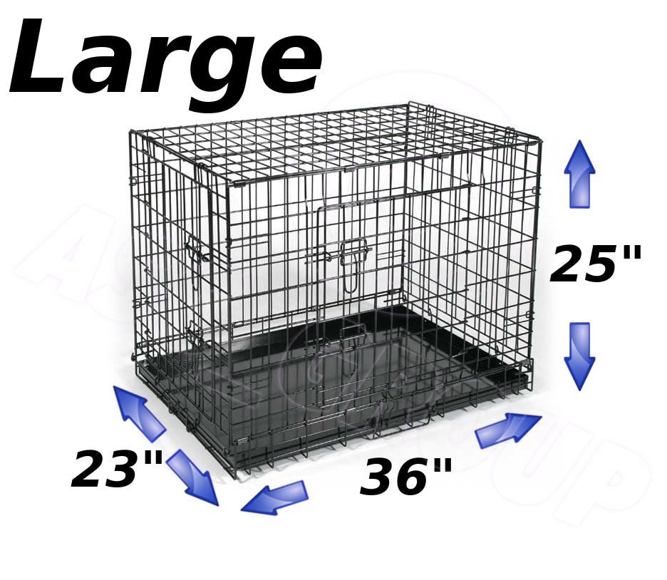 animal domestique chien chiot pliage caisse cage porte. Black Bedroom Furniture Sets. Home Design Ideas
