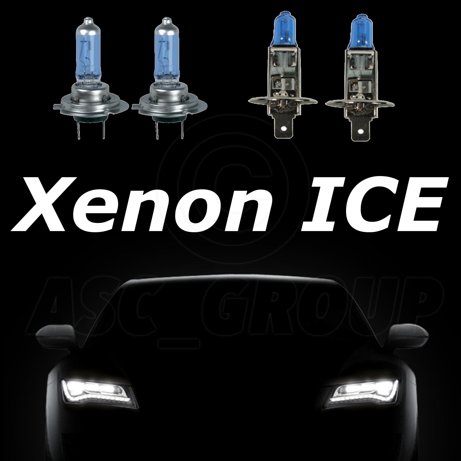 High Beam White Light H7 100w ROVER Xenon Upgrade Headlight Bulbs Dip