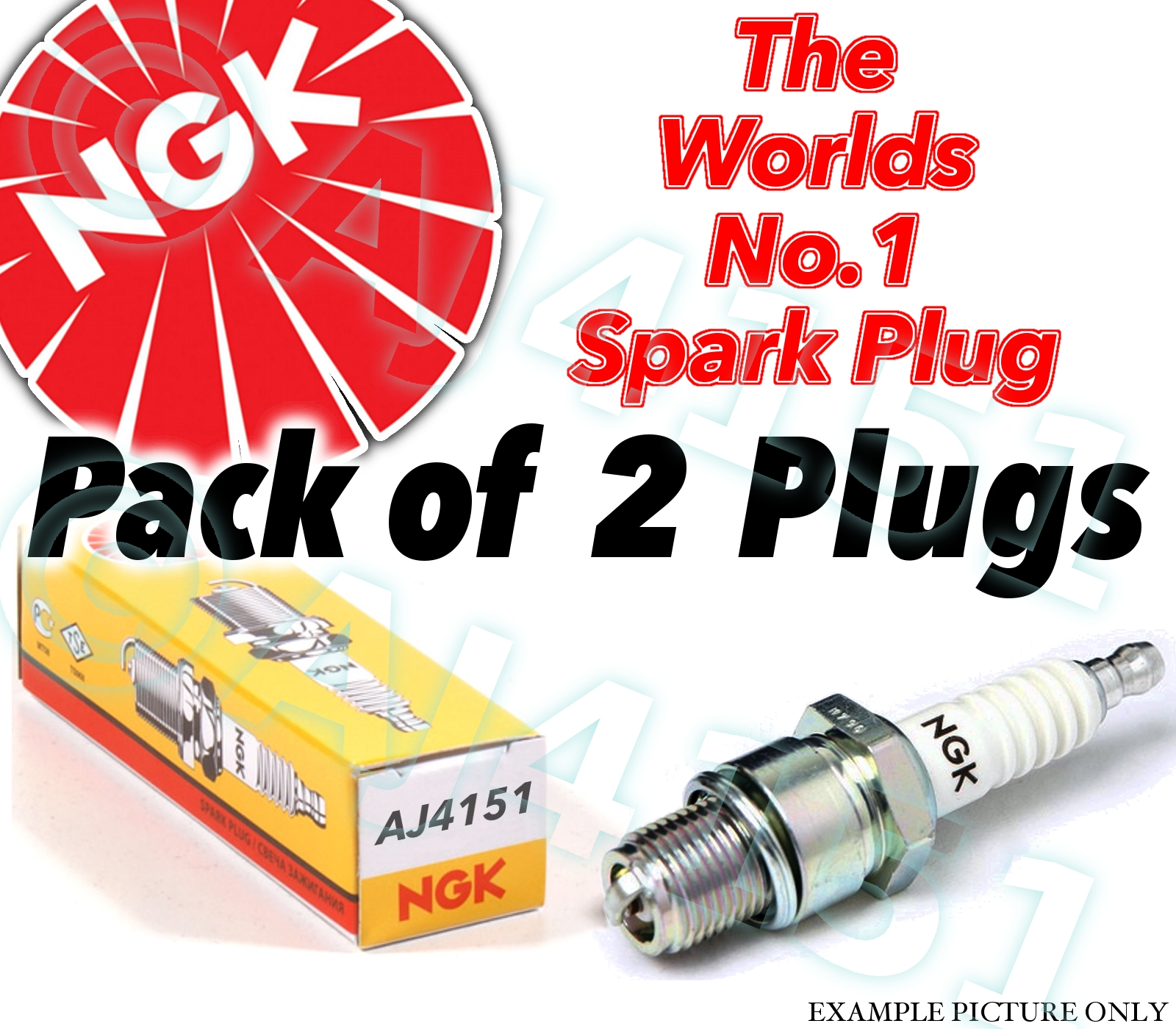 2X NGK SPARK PLUG BCP6E 5860