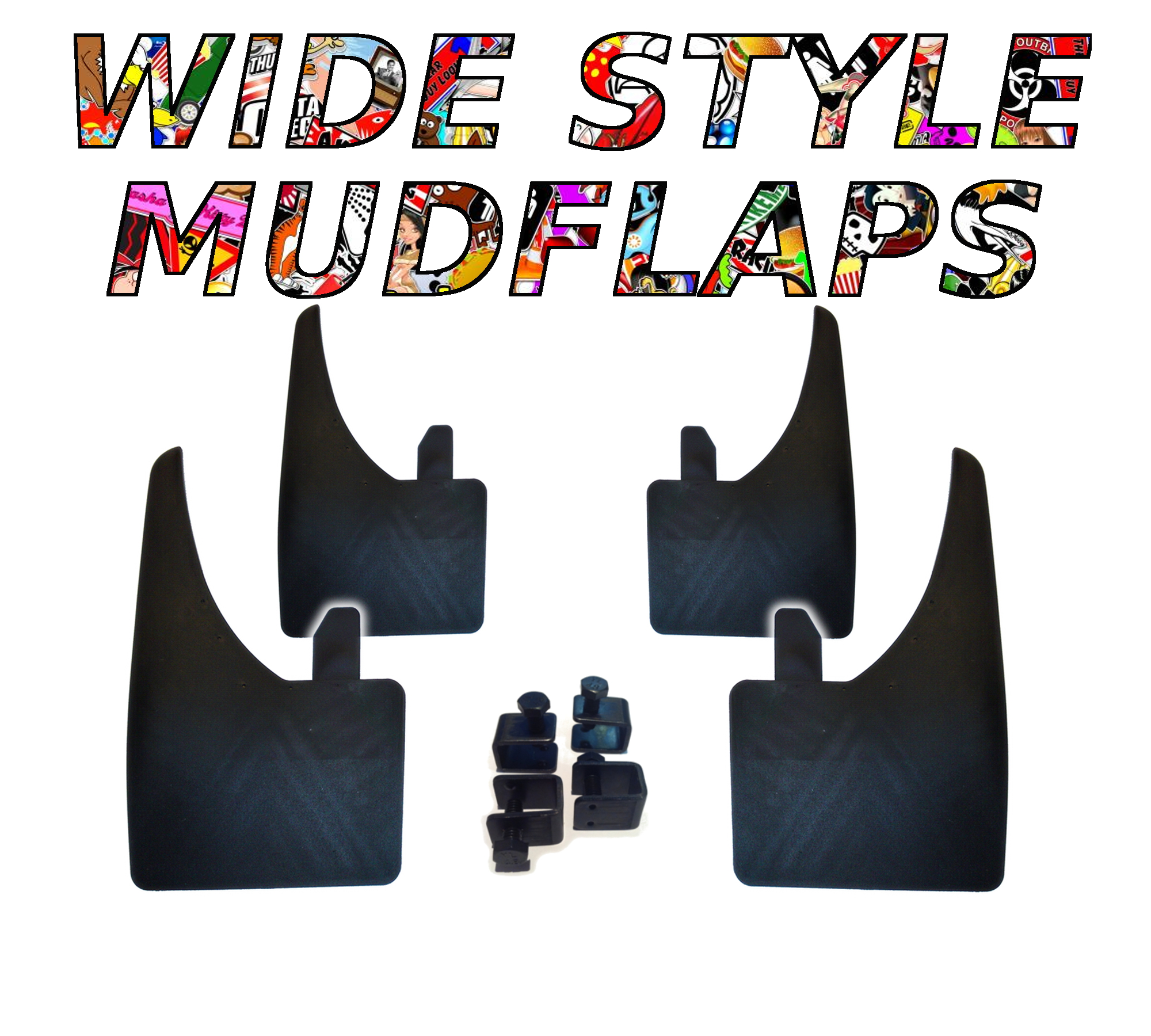 Top Quality Universal SEAT Arosa Car Moulded Rubber MUDFLAPS Full set